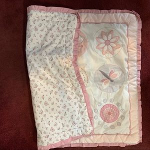 BabiesRUs Bedding - Butterfly, dragonfly, floral pink baby blanket